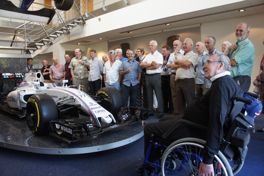 Sir Frank Williams wecomes CMI to Williams Grand Prix